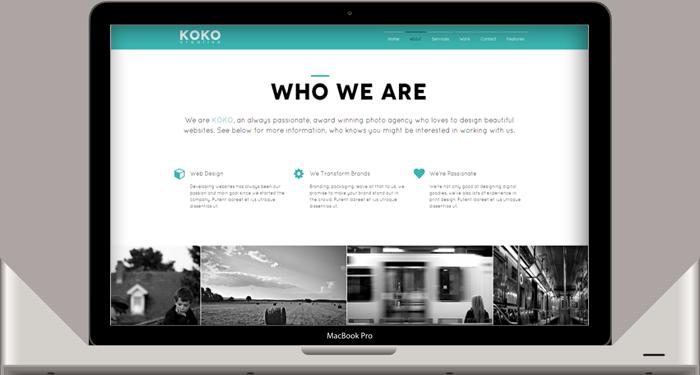 KOKO - One Page Parallax Theme